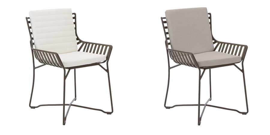 Aluminiowe krzesła ogrodowe
