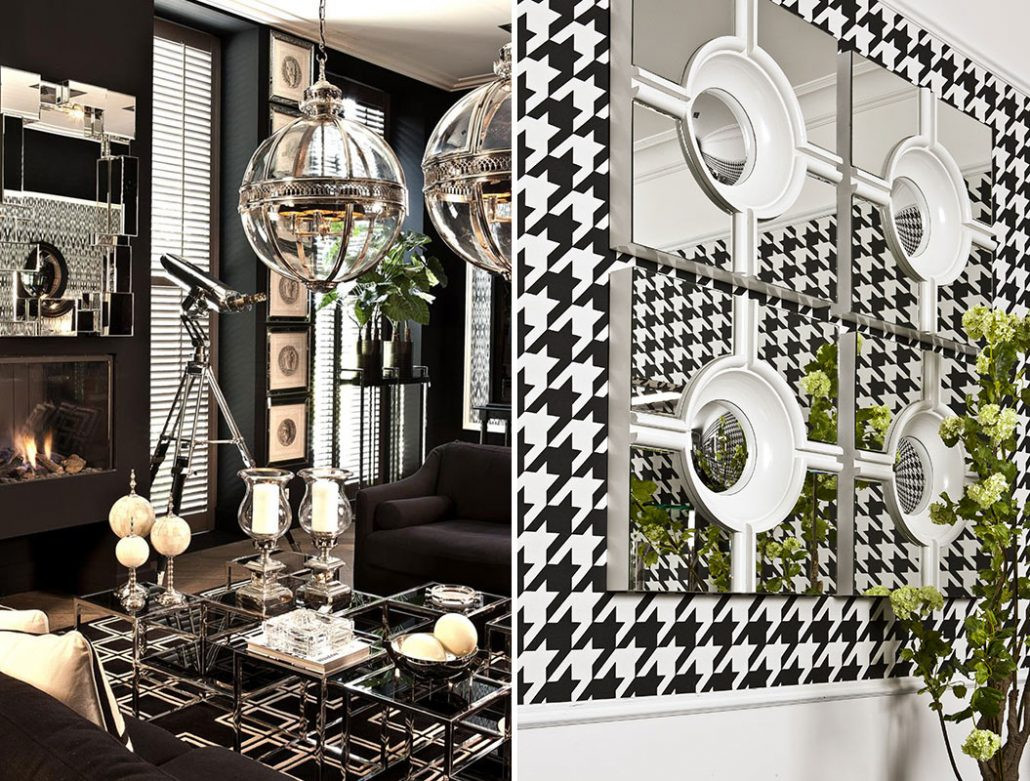 Lustro W Salonie Dekoracja Zawsze Na Czasie Wnętrza Homesquare