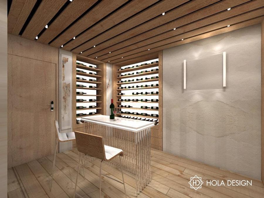 Piwniczka na wino w podpiwniczeniu