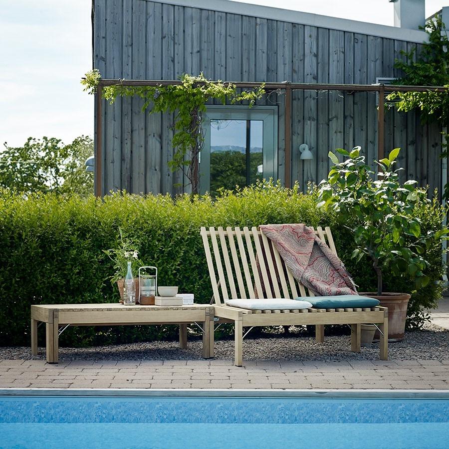 Skandynawskie meble ogrodowe z drewna