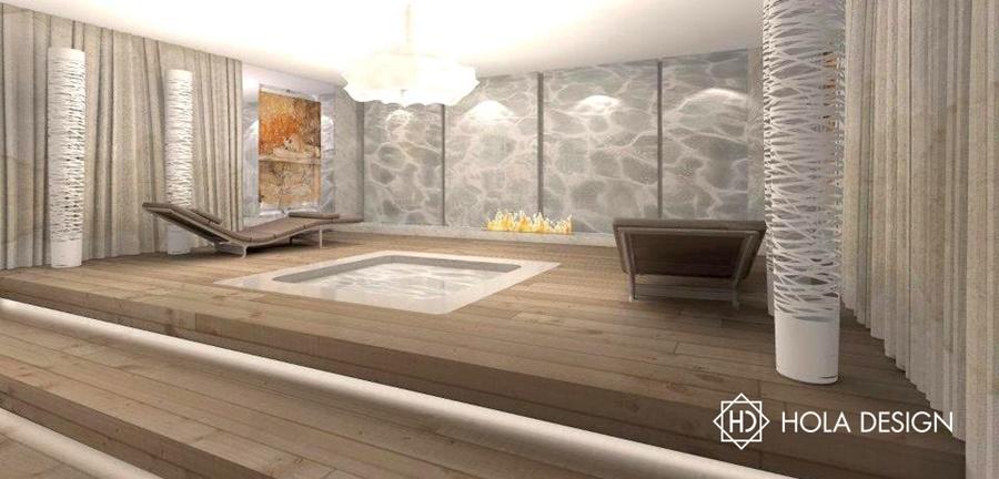 Spa z basenem w piwnicy