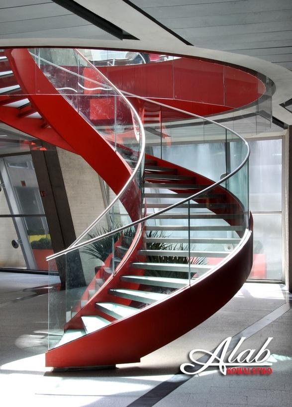 balustrada szklana w stylu nowoczesnym