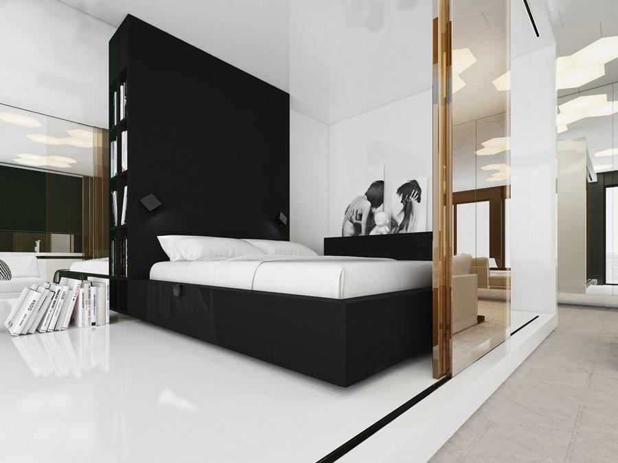 Mieszkanie w kamienicy w bieli i czerni