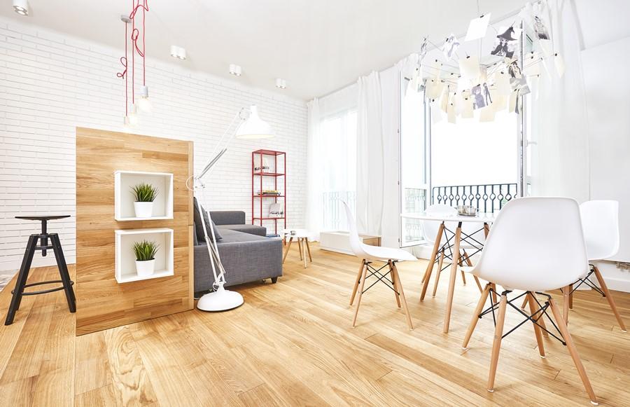 Połączenie kuchni z salonem w nowoczesnym stylu - projektowanie wnętrz pod klucz