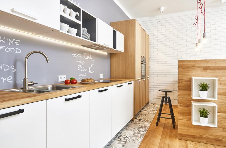 Po czenie kuchni z salonem w nowoczesnym stylu for Polaczenie kuchni z salonem