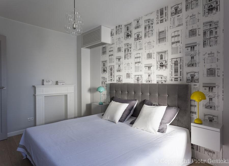ściana Nad łóżkiem Ważny Fragment Sypialni Artykuły