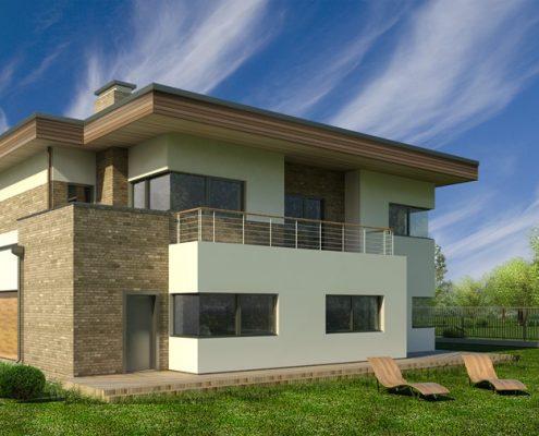 Asymetria w projekcie nowoczesnego domu A8 Architektura
