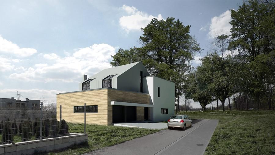 Nowoczesny dom nad Kanałem Żerańskim A8 Architektura