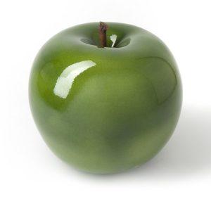 Rzeźba do domu i ogrodu jabłko green Bull and Stain nowoczesna rzeźba ogrodowa