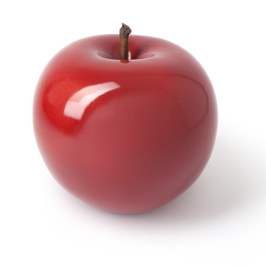 Czerwona rzeźba do domu i ogrodu jabłko red Bull and Stein