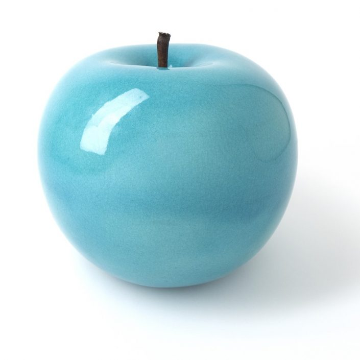 Turkusowa rzeźba do domu i ogrodu jabłko turquoise Bull and Stain