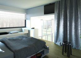 Sypialnia z przeszklonym prześwitem A8 Architektura