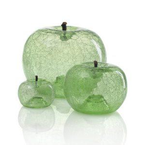 Szklane jabłko emerald Bull and Stein Dekoracja rzeźba