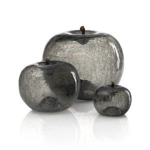 Szklane jabłko zirconium Bull and Stein dekoracja rzeźba