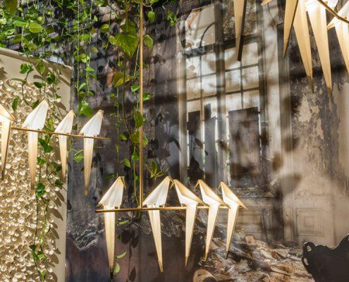 Designerskie lampy w kształcie ptaków
