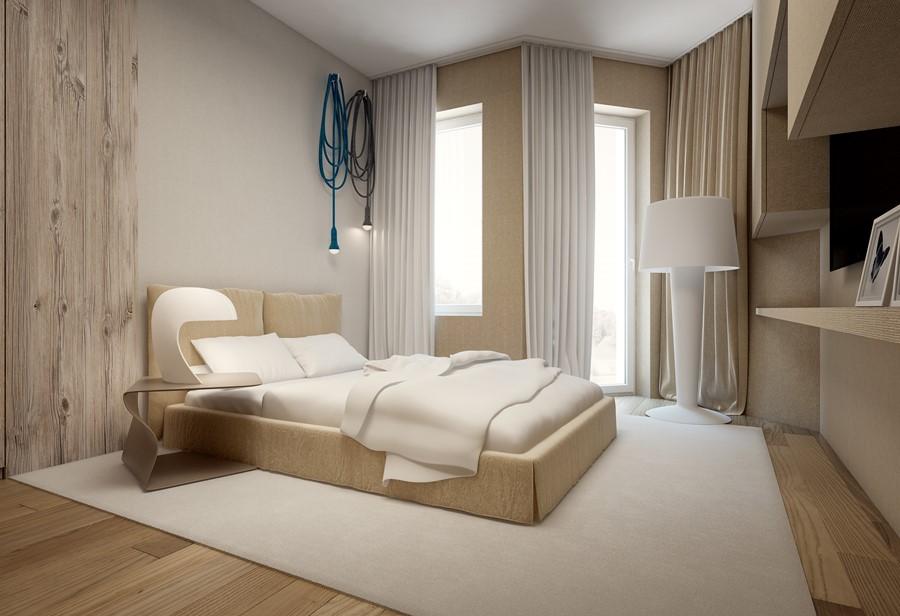 Jaki kolor do sypialni beżowy styl nowoczesny