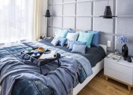 Jaki kolor do sypialni niebieski styl nowoczesny