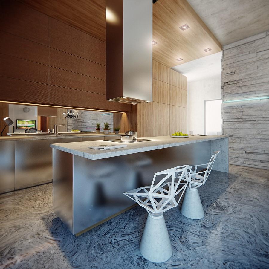 Otwarta kuchnia w bieli hola design homesquare - Styl Nowoczesny Architektura Wn Trza Technologia Design Homesquare