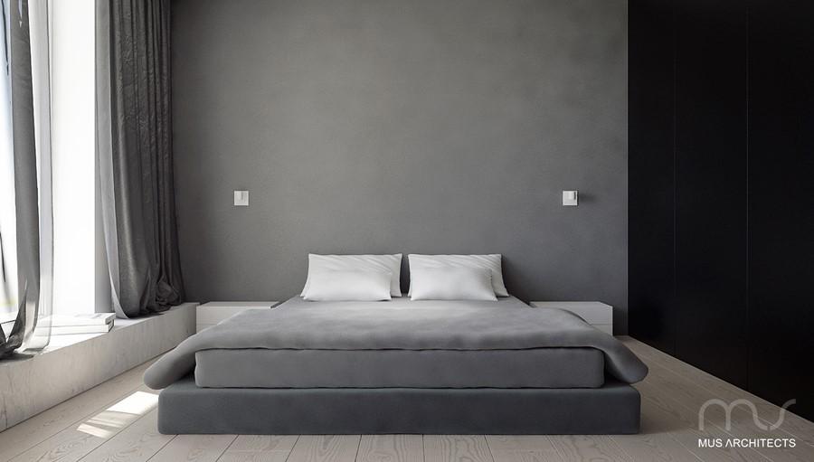 Odcienie szarości sypialnia Jaki kolor do sypialni
