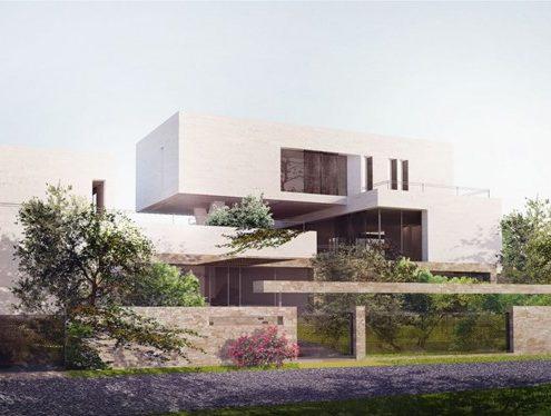 Projekt nowoczesnej rezydencji w Jordanii BXB Studio