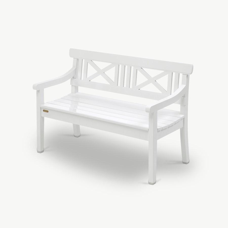 Biała ławka ogrodowa Drachmann 120 CM Skagerak