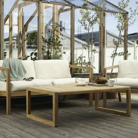 Nowoczesne ławki ogrodowe z drewna