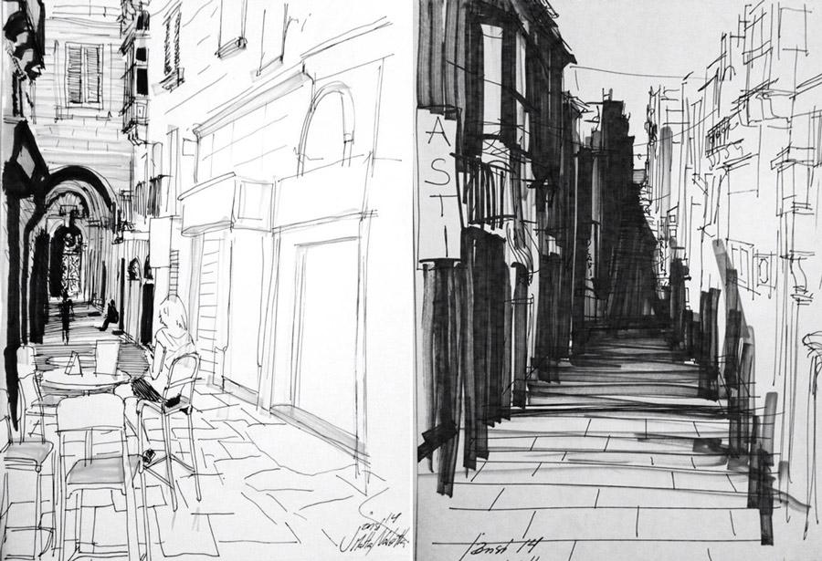 Szkice i rysunki - Sikora Wnętrza