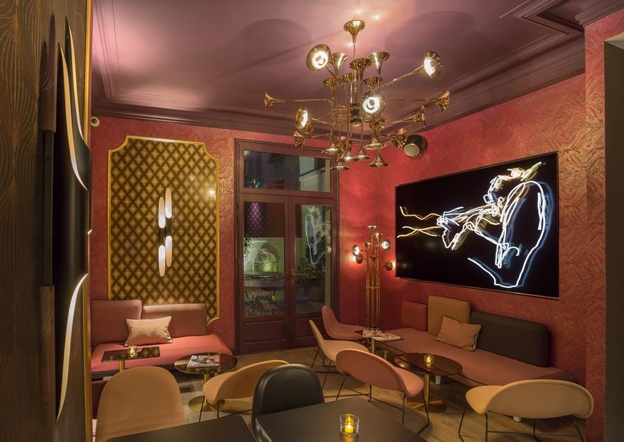 Stylowy hotel Idol Paryż Kawiarnia