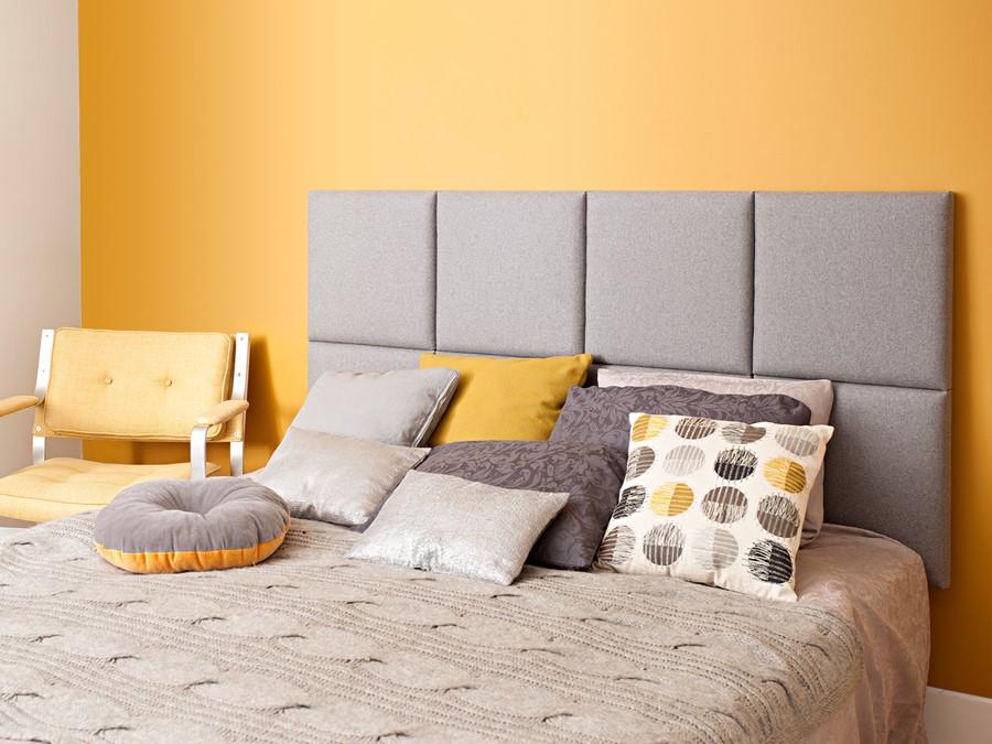 Szaro żółta sypialnia jaki kolor do sypialni