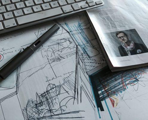 Sikora wnętrza - szkice i rysunki