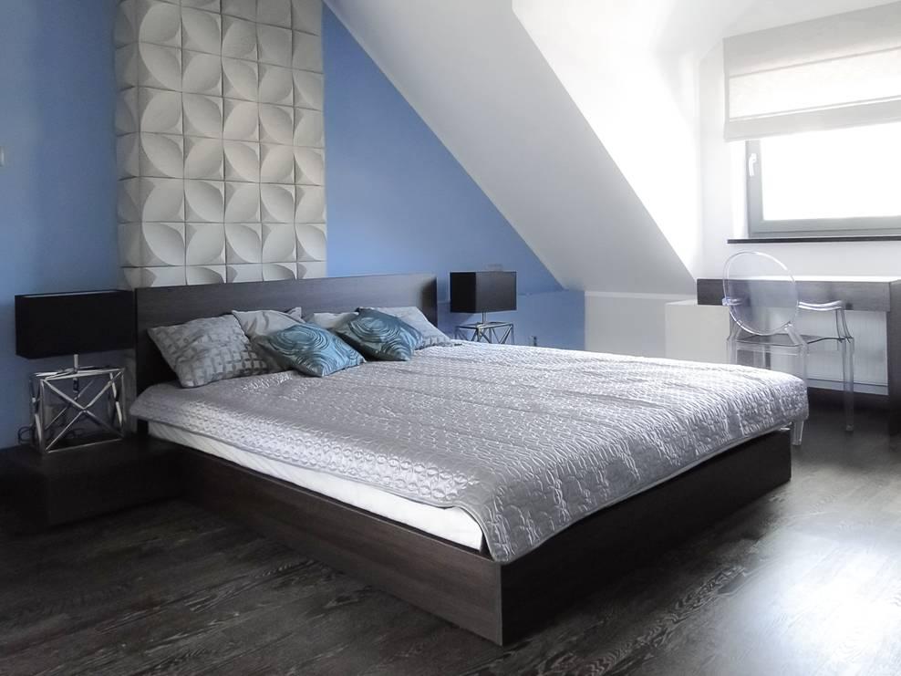Niebiesko-biała sypialnia Jaki kolor do sypialni