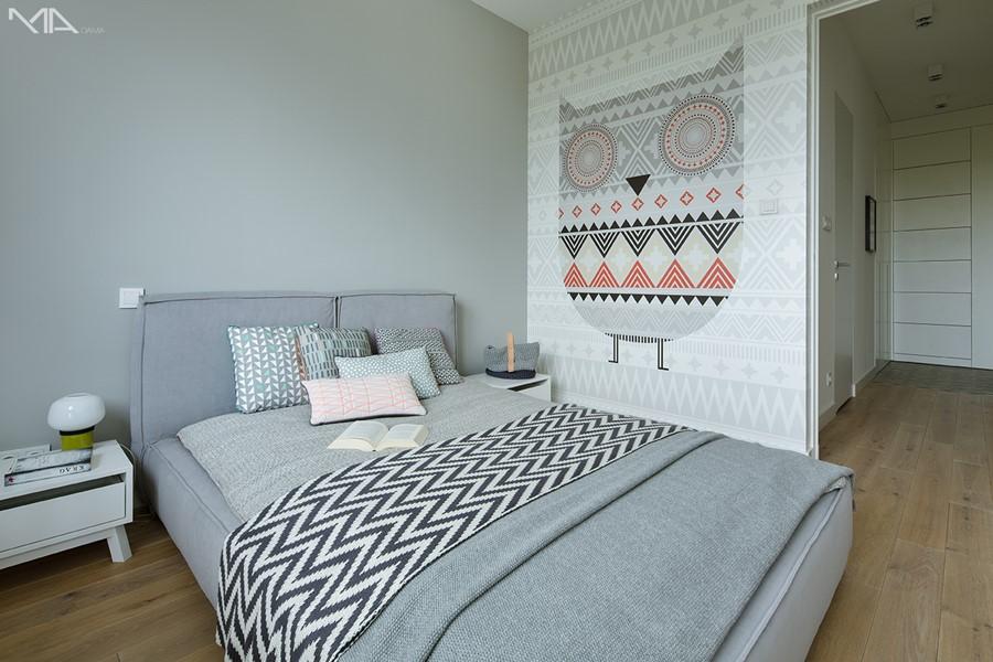 Jaki kolor do sypialni Sypialnia szarości