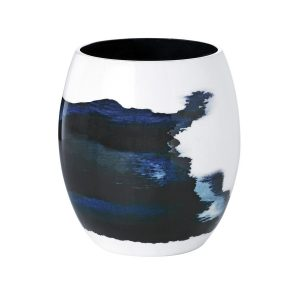 Biało-niebieski wazon Stockholm Aquatic mały STELTON