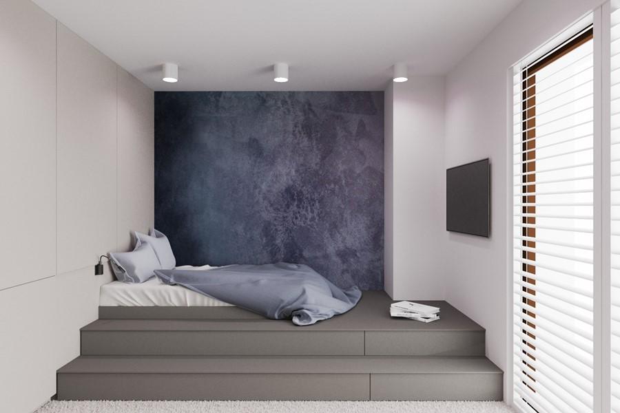 Łóżko na podeście - pokój młodzieżowy Nasciturus Design - pokój dla dziewczyny