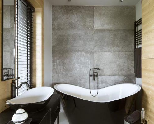 Aranżacja łazienki z wanną wolnostojącą Hola Design