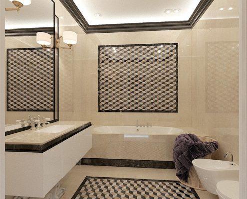 Bezfugowe płytki w łazience Dominika Rostocka