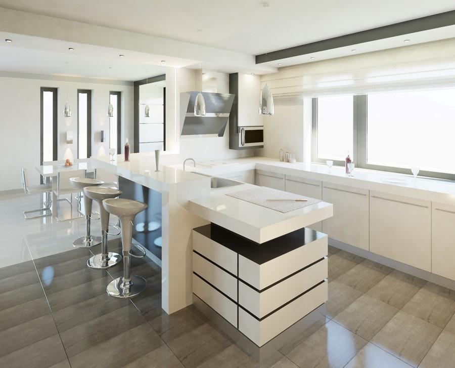 Biel W Kuchni Otwartej Na Jadalnię Inspiracje Homesquare