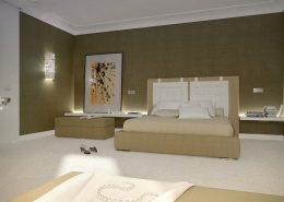 Ciepłe kolory zestawione z nowoczesnością - sypialnia Concept