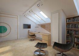 Domowy gabinet z biblioteką Concept - pomysł na poddasze