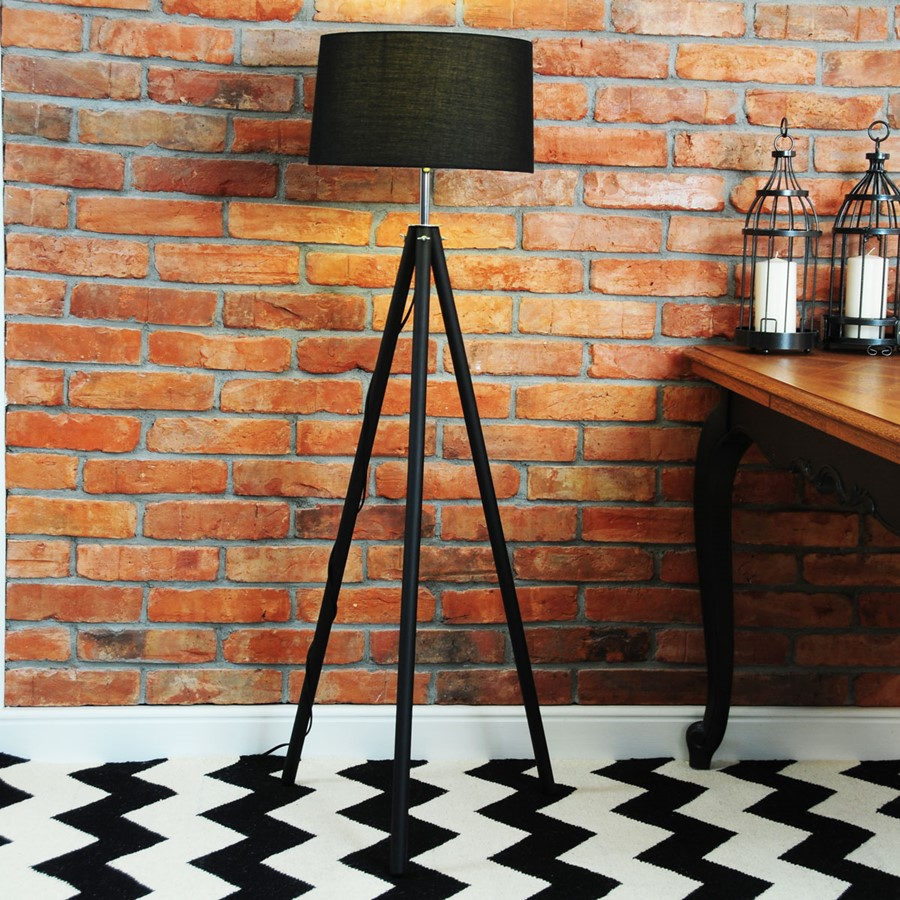 Dywan Chevron Black White II - dywan w salonie