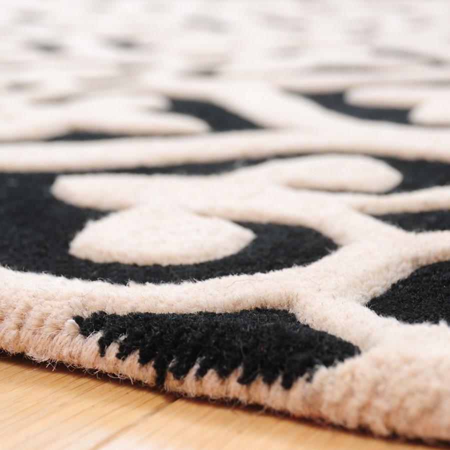 czarnobia�y dywan imperial trellis architektura