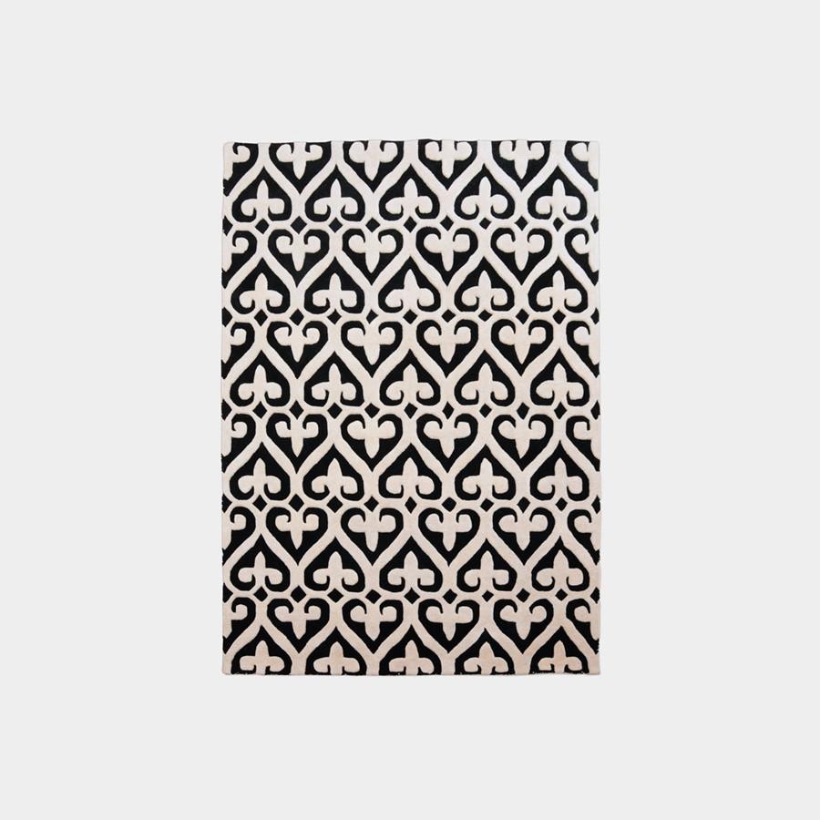 Czrano - biały dywan dywan Imperial Trellis Black Oaks