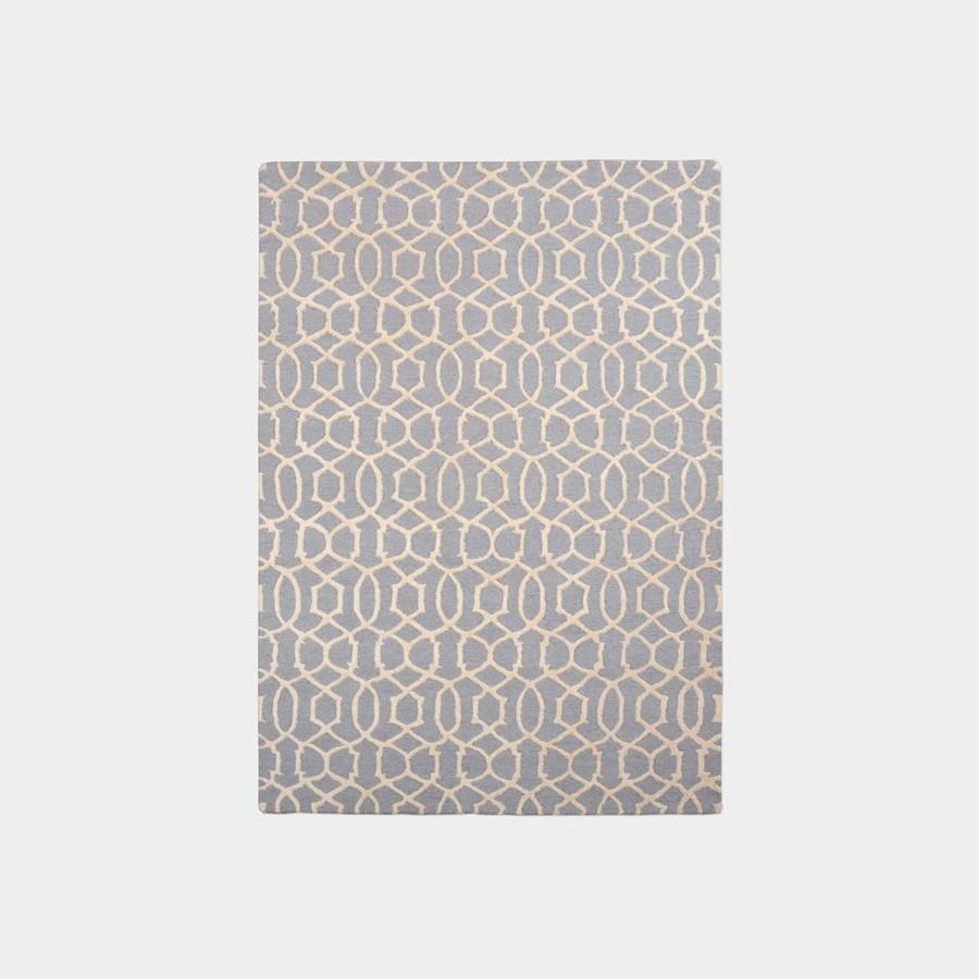 Stylowy dywan Moroccan Pattern szaro-kremowy