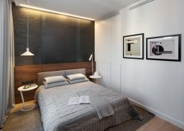 Minimalistyczna forma stylowej sypialni Exitdesign