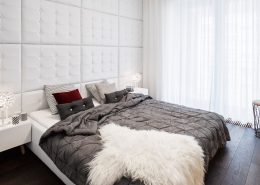 Pikowana ściana w sypialni A8 Architektura - ekskluzywne sypialnie