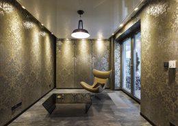 Pokój wypoczynkowy w stylu glamour A8 Architektura