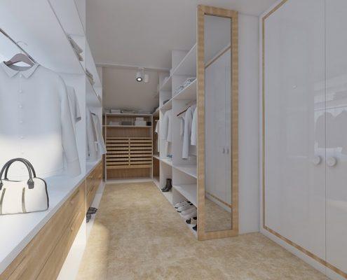 Projekt dużej garderoby Concept