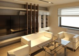 Projekt minimalistycznego gabinetu A8 Architektura