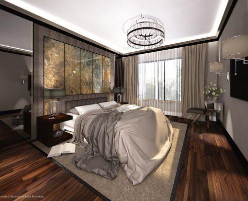 Styl modern classic w projekcie sypialni Dominika Rostocka