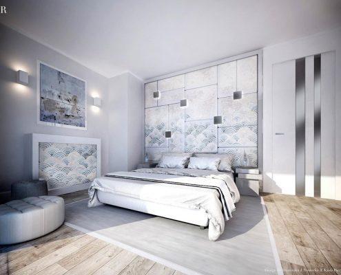 Tapicerowane dekoracje w sypialni Dominika Rostocka - ekskluzwyne sypialnie